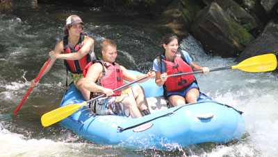 Guded trips at Adventurous Fast Rivers Rafting on the Nantahala River