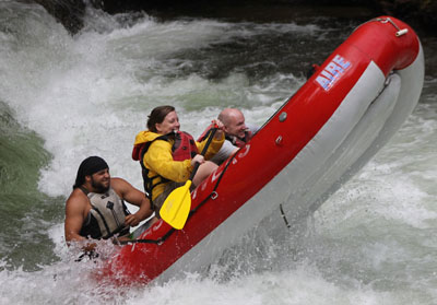 Instructor/guide at Adventurous Fast Rivers Rafting on the Nantahala River in Bryson City NC