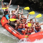 rafting on the Nantahala River in the Great Smoky Mountains.